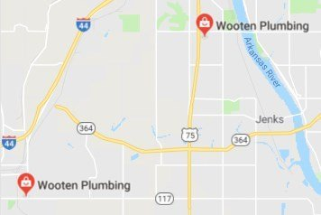 Map Location - Tulsa Plumber - Wooten Plumbing